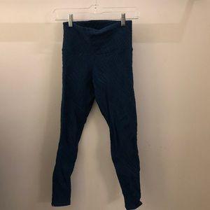 Onzie Pants - Onzie blue hi waist crochet detail crops sz s/m